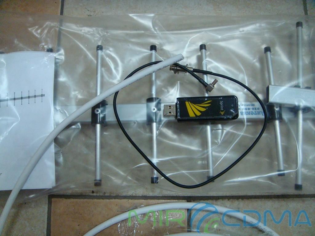 Комплект 3G CDMA модем Sierra 598U, адаптер(Pigtail), кабель с Антенной 24 dBi