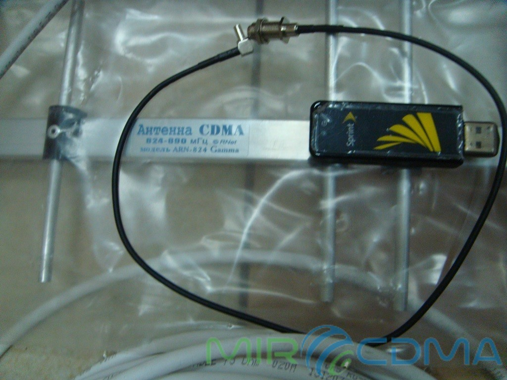 Комплект 3G CDMA модем Sierrra 598U, адаптер(Pigtail), кабель с Антенной 14 dBi