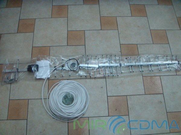 Комплект 3G CDMA модем Sierrra 250U, адаптер(Pigtail), кабель с Антенной 24 dBi