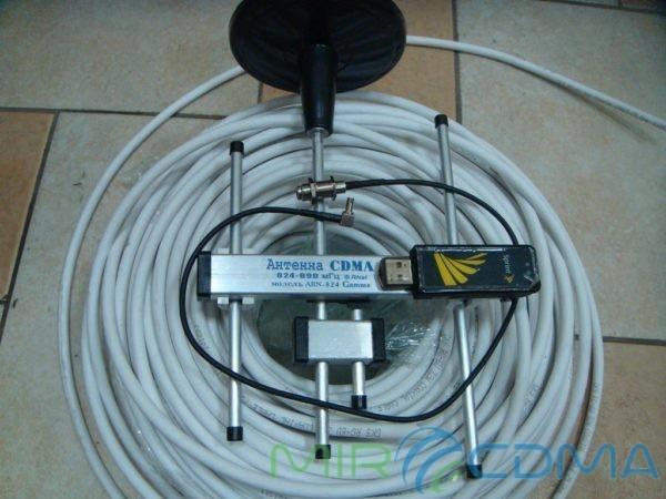 Комплект 3G CDMA модем Sierrra 598U, адаптер(Pigtail), кабель с Антенной 5 dBi