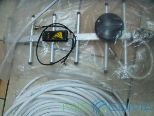Комплект 3G CDMA модем Sierrra 598U, адаптер(Pigtail), кабель с Антенной 19dBi