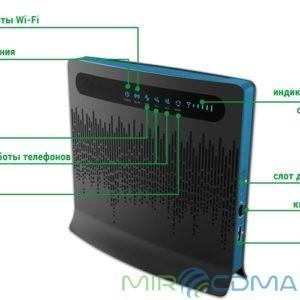 Huawei B593s-22 3G/4G LTE WiFi роутер Black 2 x RJ11