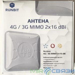 ПАНЕЛЬНАЯ MIMO Антенна 2x16 dBi ALTA 3G/4G LTE RunBit