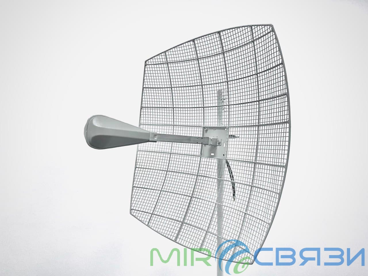 Антенна параболическая MIMO 27дБ KROKS KNA27-1700/2700 BOX с гермобоксом